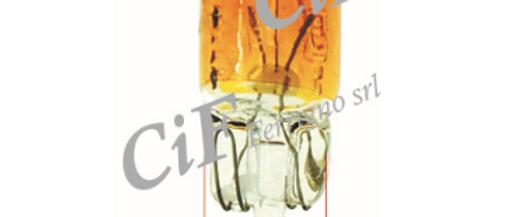 Lampada arancio tutta vetro 12v 5w