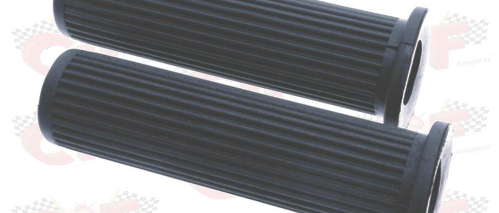 Coppia manopole nere rigate per Vespa PX E Arcobaleno 125 150 200