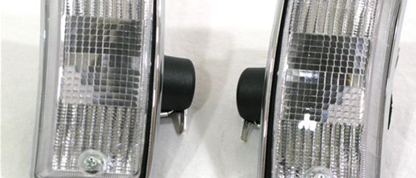 Coppia frecce anteriori complete Vespa PX 125-150-200