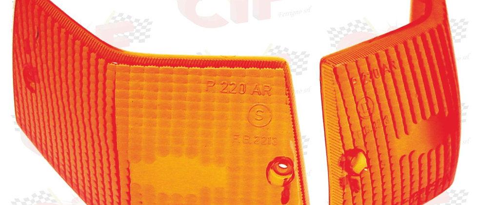 Coppia plastiche frecce posteriori arancio Vespa PE PX 125 150 200