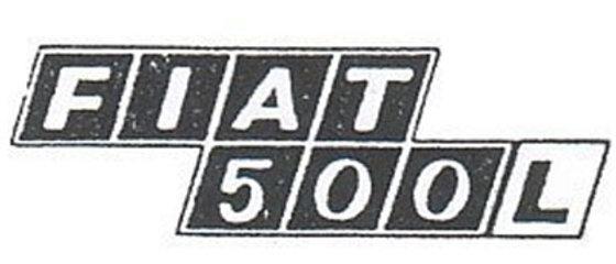 Scritta targhetta posteriore Fiat 500 L