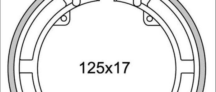 Ganasce freno anteriori Polini Vespa 50 - 125 - Ape 50