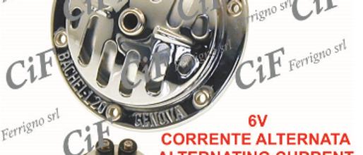 Clacson 6V cromato Vespa 50-90-125