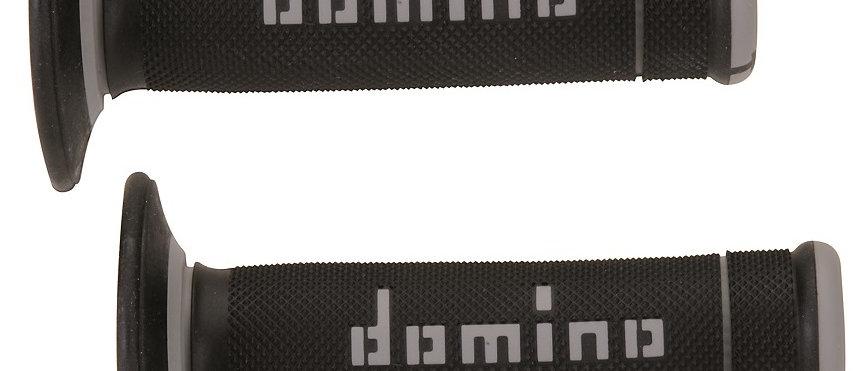 Manopole domino nero-grigio scooter - moto