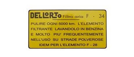 Adesivo filtro aria Lambretta