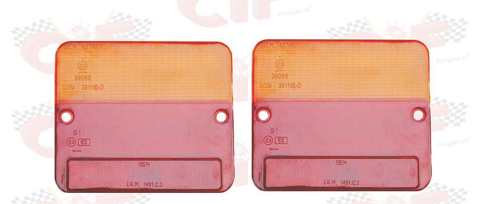 Coppia plastiche stop posteriori Siem Piaggio Ape 50 Poker Car P3