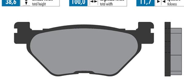 Pastiglie freno Adige posteriori Yamaha 500