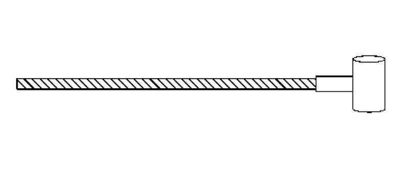 Cavo frizione Ape P501 - P601