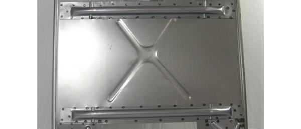 Pedana pavimento con rinforzi e prolunghe Grabor Vespa 50 - 125 ET3