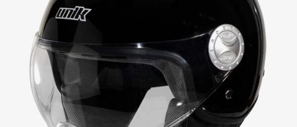 Casco nero lucido Unik taglia S
