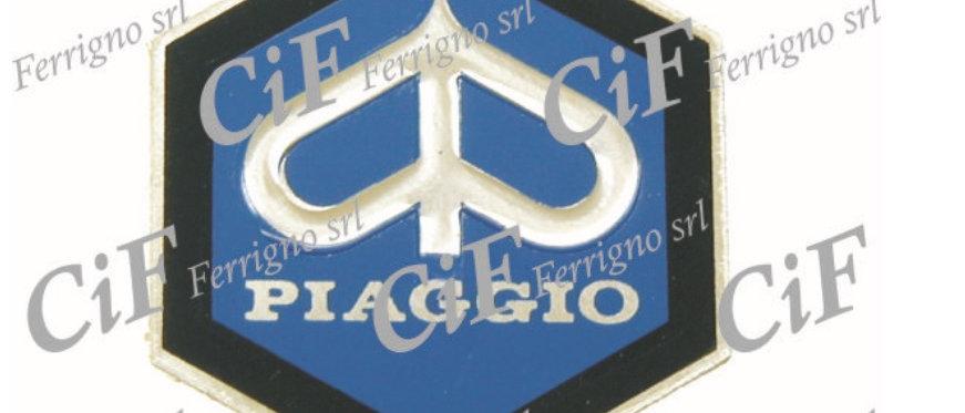 Targhetta adesiva esagonale Piaggio 31mm