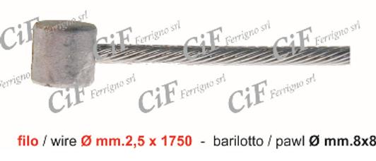 Cavo frizione Vespa V - 50 FL 2.5x1.75