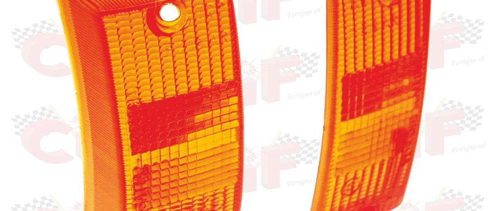 Coppia plastiche arancioni frecce anteriori Vespa PE PX 125 150 200