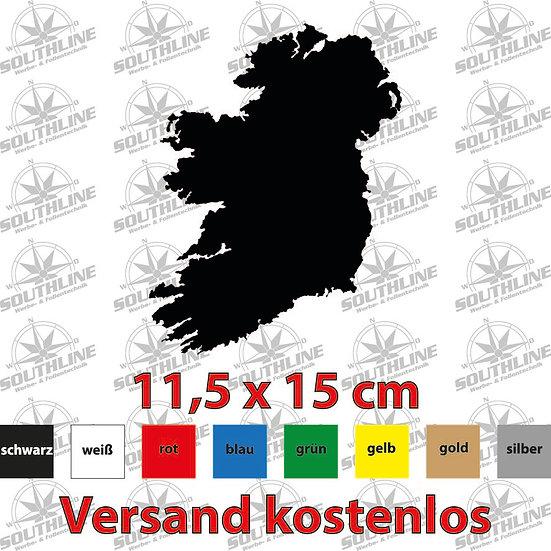 Länder-Silhouette Irland, Klebefolie in verschiedenen Farben