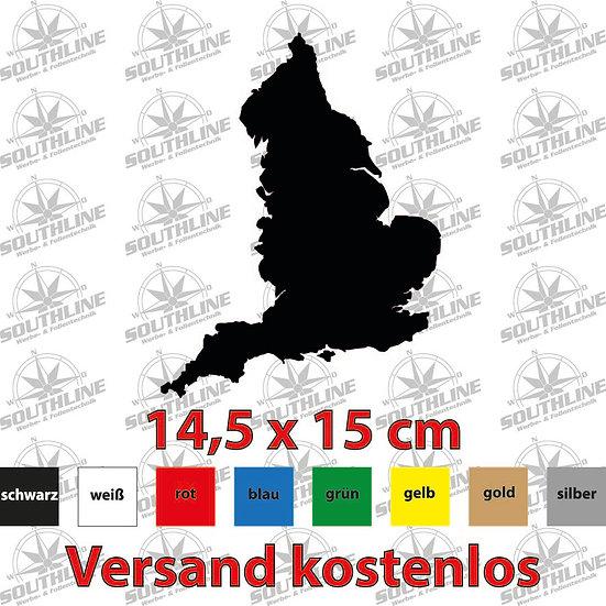Länder-Silhouette England, Klebefolie in verschiedenen Farben