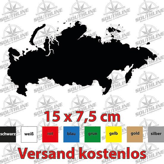 Länder-Silhouette Russland, Klebefolie in verschiedenen Farben