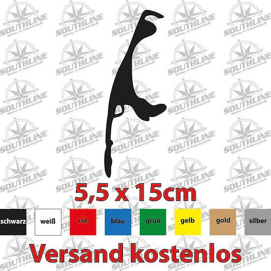 Länder-Silhouette Sylt, Klebefolie in verschiedenen Farben