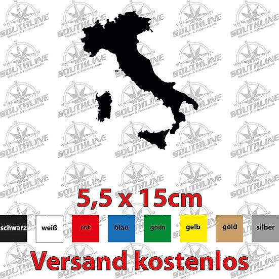 Länder-Silhouette Italien, Klebefolie in verschiedenen Farben