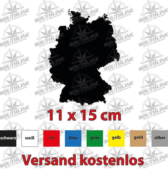 Länder-Silhouette Deutschland, Klebefolie in verschiedenen Farben