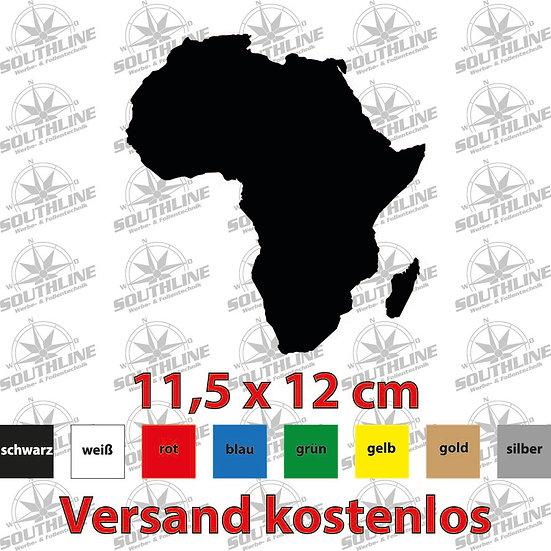 Länder-Silhouette Afrika, Klebefolie in verschiedenen Farben