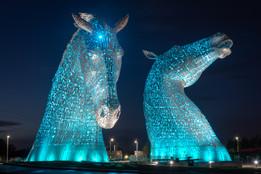 The Kelpies, Falkirk, Scotland - Blue
