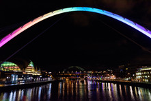 'Rainbow Bridge; , Newcastle Quayside