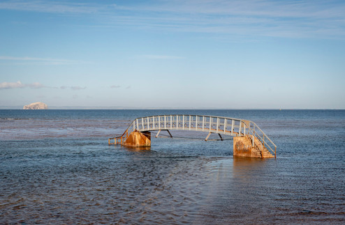 'Bridge to Nowhere', Dunbar, Scotland