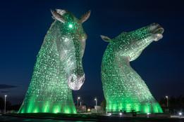The Kelpies, Falkirk, Scotland - Green