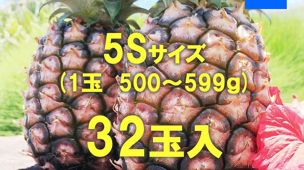 【完売御礼】【2021年度新物】西表島ピーチパイン サイズ5S /1ケース(32玉)