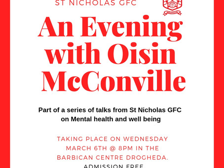 An evening with Oisin McConville