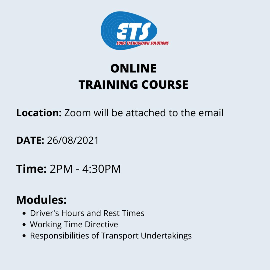 ETS Online Training Course