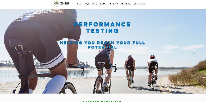 JellyLegs Coaching Website Design