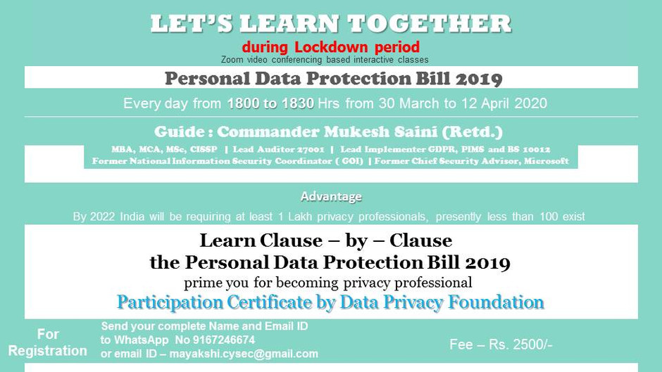 Let's Learn Together - in LockDown Period