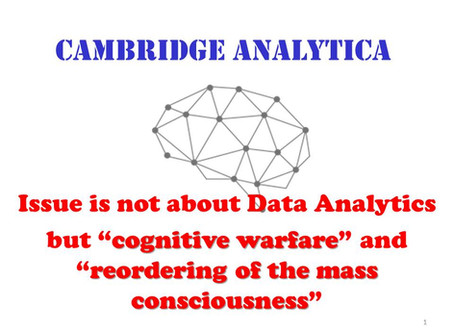 """Cognitive warfare and reordering mass consciousness """"Cambridge Analytica and beyond"""""""