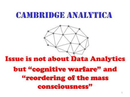 "Cognitive warfare and reordering mass consciousness ""Cambridge Analytica and beyond"""