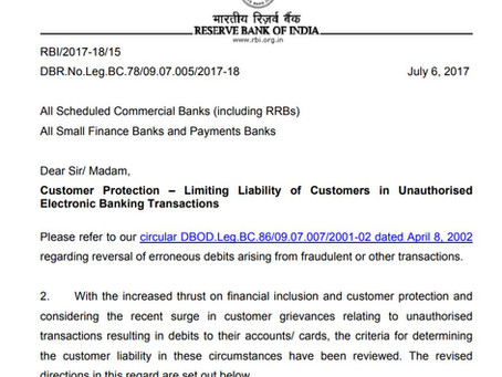 Bank's Liability in Case of Online Fraud