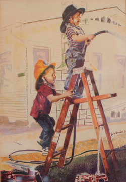 Boys Playing Firefighter