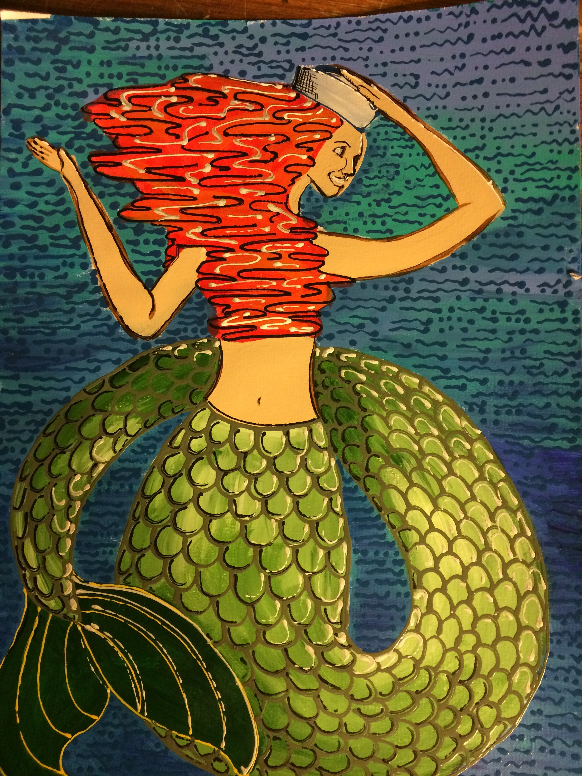 Cheery Red Head Mermaid