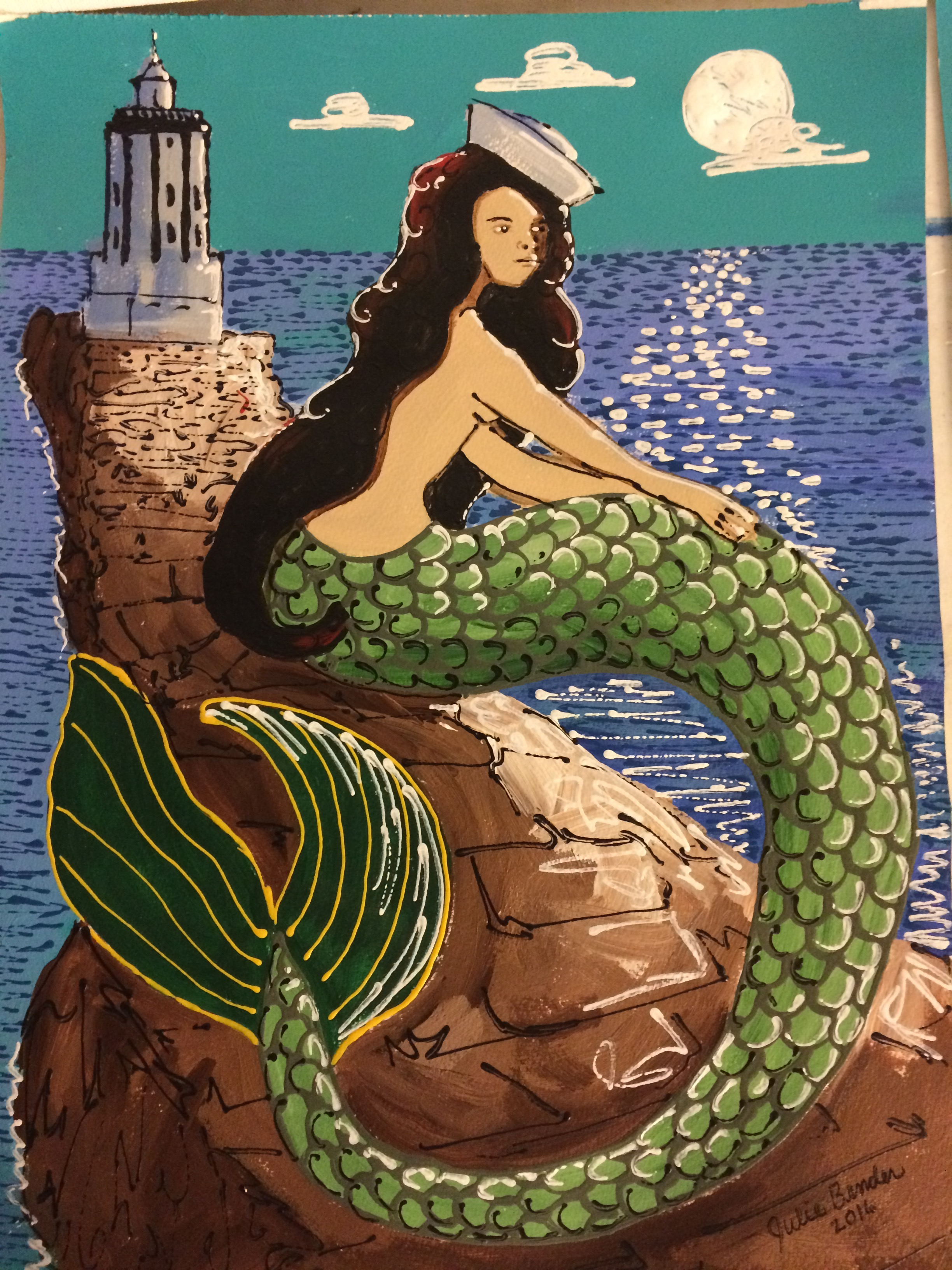 Brunette Mermaid_A