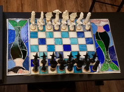 Stain Glass Chess Board