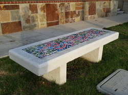 Mosaic Cement Benches