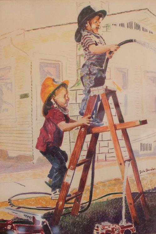Kids on Ladder