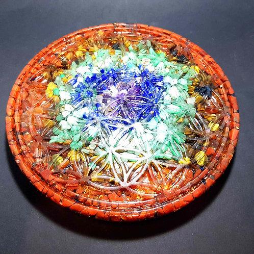 Plateau de rechargement Fleur de Vie  7 Chakras