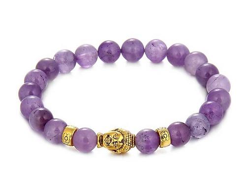 Bracelet Améthyste - Bouddha