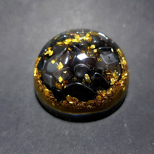 Mini Dôme Protection Hematite Or