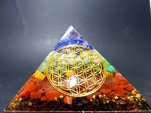 A - Pyramide 7 Chakras Fleur de vie