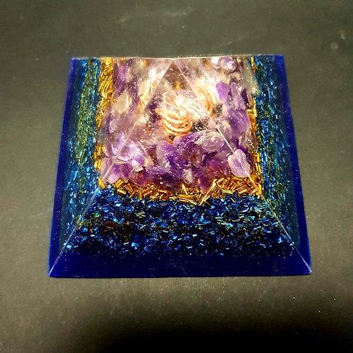 Pyramide Cristal - Améthyste - Protection - Bien être
