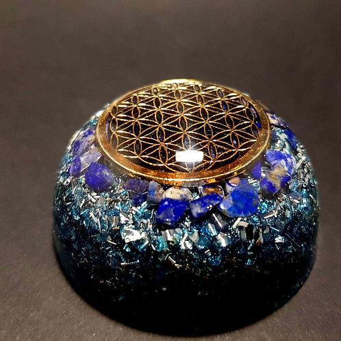 24 - Orgonite Fleur de vie - Lapis Lazuli - Sérénité - Paix