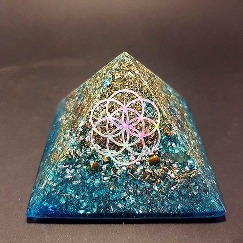 Pyramide Turquoise Graine de vie - Harmonie - Bien être
