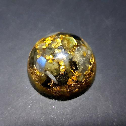 Mini Dôme Protection Labradorite Or